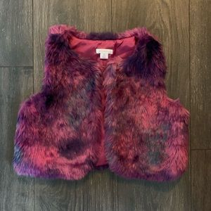 Xhilaration Faux Fur Vest, Size S (6-6X)
